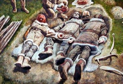 Triple burials of Dolni Vestonice