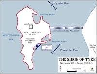 Map of Alexander the Great's Walkway to capture Tyre