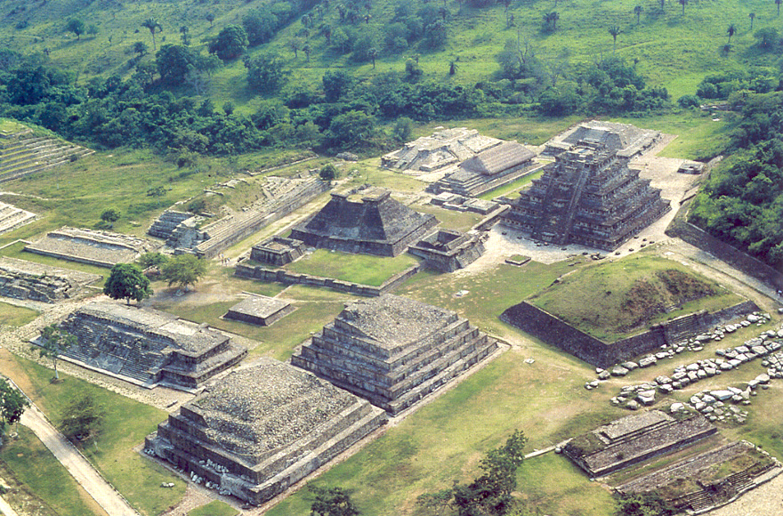 Carvings on the walls of the pre-Aztec city of El Tajin, Mexicoaztec city