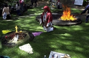 Mayan Ceremony in Iximche