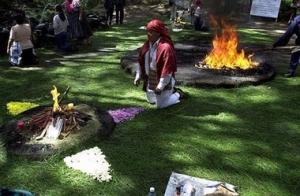 Mayan Ceremony in Iximche