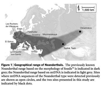 Geographic Range of Neandertals