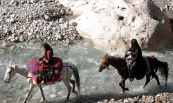 Bakhtiari Women on Horses