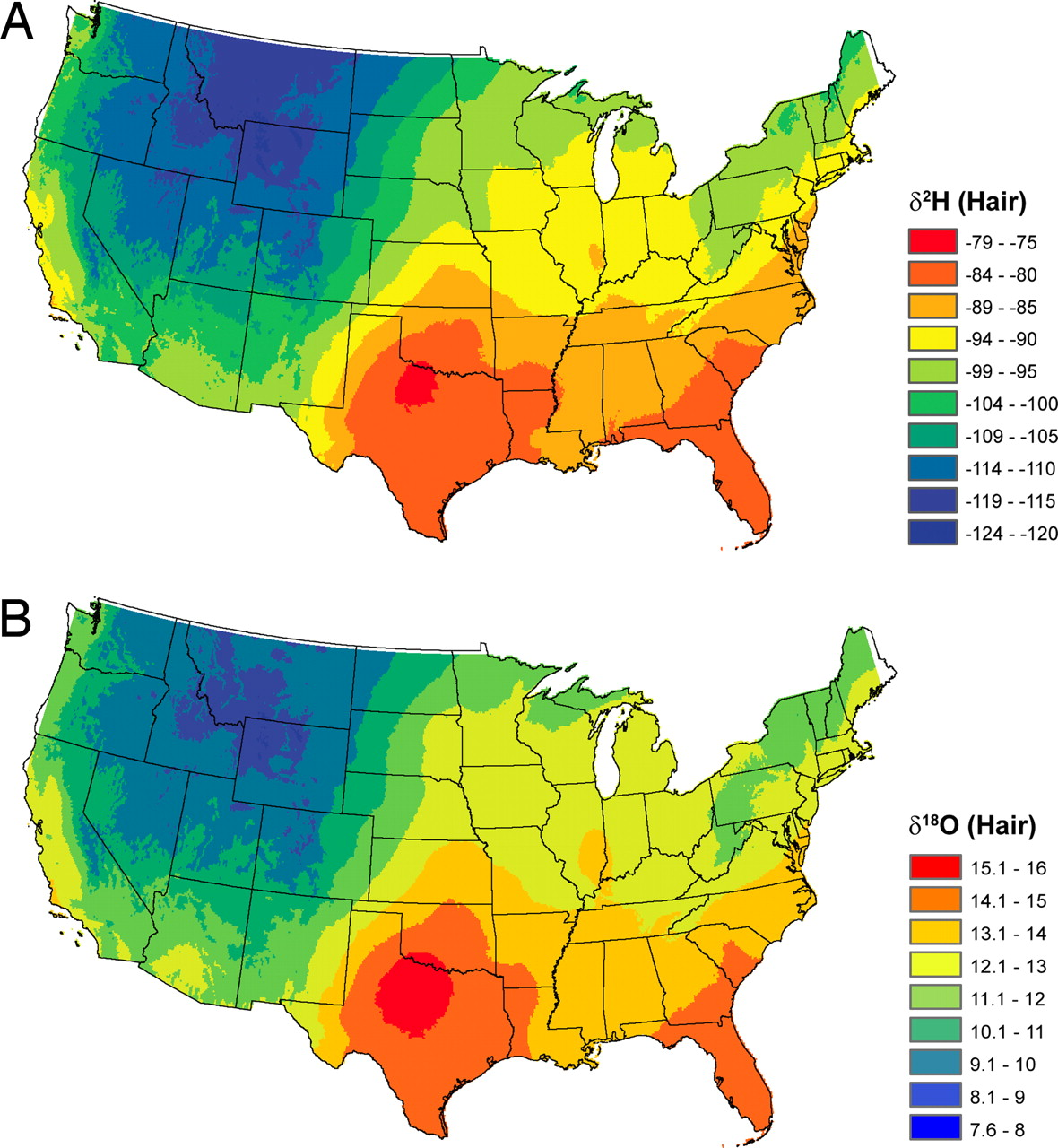 Map Of Crime Rates In Us Hydrogen And Oxygen Isotopes In Human Hair Can Tell Us