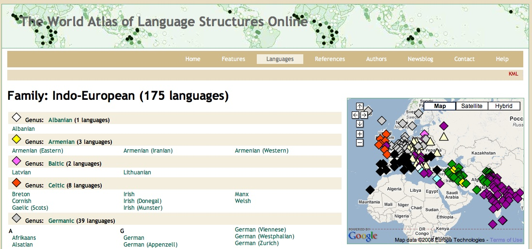 Have you heard of World Atlas of Language Structures online ...