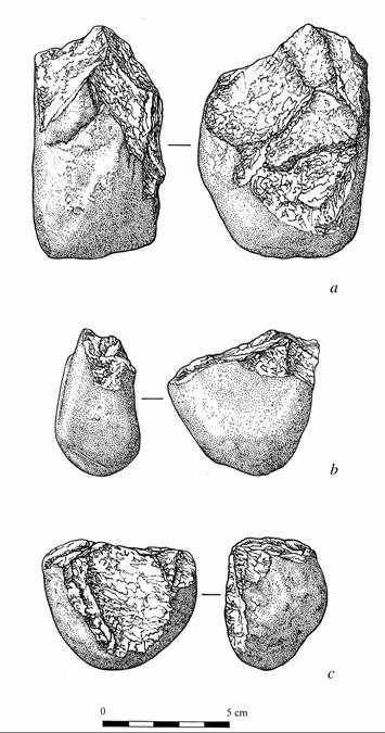 Diagram of Oldowan tools