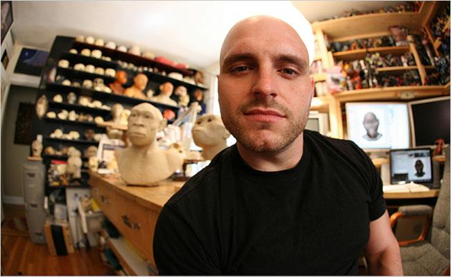 Viktor Deak, one of the world's top paleoartists (Erik Olsen/The New York Times)