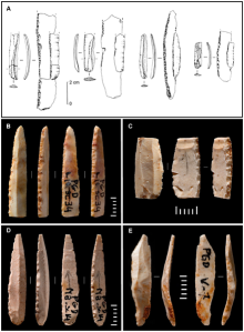 "Figure 11. Fig 2 ""Dufour bladelets"": Pego do Diabo compared with the Protoaurignacian"