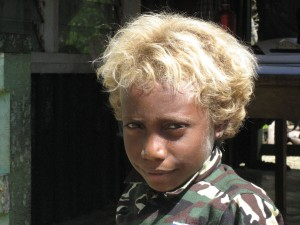 Melanesian Blond Hair
