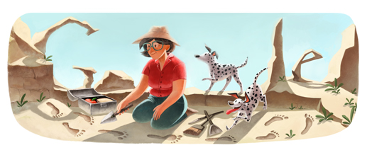 Today's Google Doodle: Mary Leakey's 100th Birthday