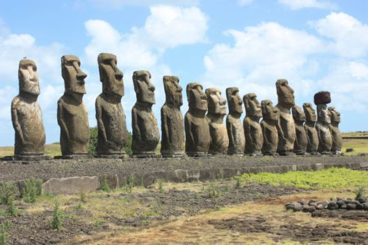 These moai on Easter Island were so imposing that Europeans couldn't believe they'd been created by just a couple thousand people. Photo: Arian Zwegers