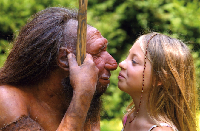 Neanderthals and modern humans may have intermixed much more than previously thought. NEANDERTHAL MUSEUM, METTMANN, GERMANY