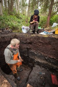 Archaeologists at the site are unearthing tools for lighting fires, fish hooks and spears dating back to the Ice Age