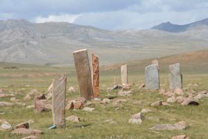 Uushgiin Ovor Deer stone site near Mörönь, Khovsgol aimag, Mongolia