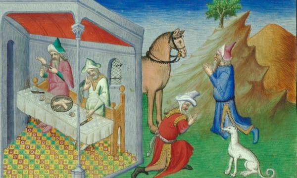 From 'Le Livre des merveilles de Marco Polo'. Courtesy Biblioteque Nationale, Paris