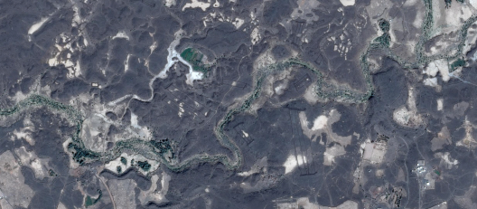 Harrat Khaybar, from Google Earth