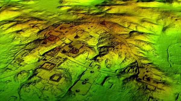 Laser technology known as LiDAR digitally removes the forest canopy to reveal ancient ruins below, showing that Maya cities such as Tikal were much larger than ground-based research had suggested.