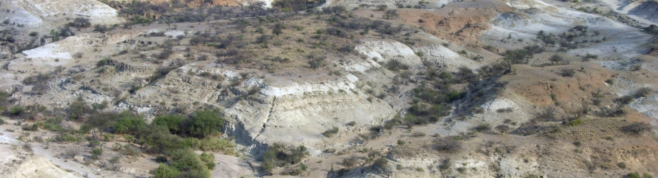 Aerial view of the Olorgesailie Basin, Human Origins Program, Smithsonian