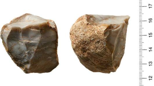 Rocks used to make ancient tools found at Israel's Qesem Cave. (Photo: Tel Aviv University)