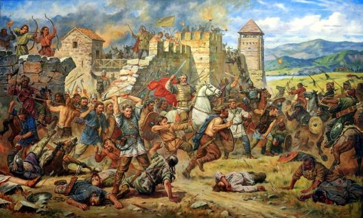 Defense of Constantinople against the Huns
